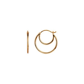 Stine A - DOUBLE CREOL EARRING 1PC | FORGYLDT